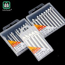 Free shipping 6mm 8mm 12mm Glass Drill Bits Hole Saws for Hard Brittle Ceramic Materials Round Handle