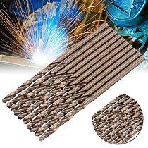 50Pcs Cobalt Drill Bit High Strength 1mm-3mm Drill Force Tool M35 Cobalt Drill Set For Hardened Steel Drilling