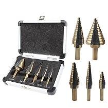9-15 step Hex Shank 4-32mm Titanium HSS Step Drill Bit for Metal Spiral or Imperial Cone Drill Set Wood Hole Cutter Cobalt M35