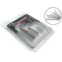 25 PCS Tool Shop HIGH-SPEED STEEL MINI DRILL BIT SET Small Fully Polished Straight Shank Twist Drill for Wood and Metal Drilling