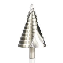 Step Drill Bit 1pc 6-60mm Spiral Groove Wood Metal Hole Cutter HSS Round Shank Step Cone Drill Bit