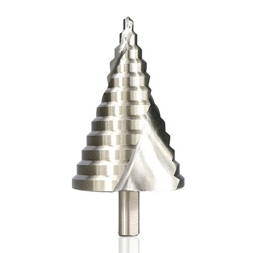 Step Drill Bit 1pc 6-60mm Spiral Groove Wood Metal Hole Cutter HSS Round Shank Step Cone Drill Bit