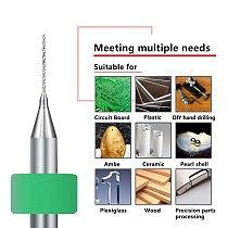 10pcs 3.175mm(1/8'') Shank Micro PCB Drill Bits for Drill Print Circuit Board Carbide Gun Drill Bit 0.4mm