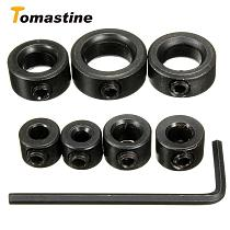 7pcs/Lot 3-12mm Drill Bit Carbon Steel Drill Bit Limiter Locator Ring Depth Stop Collar Ring Positioner Hex Wrench Woodwork Tool