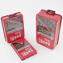 13/19/25PCS 1.0~13mm HSS Titanium Coated Drill Bit Set for Metal Woodworking Drilling Power Tools Accessories In Iron Box