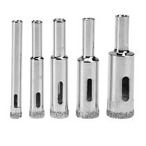 5pcs Diamond Coated Core Hole Saw Drill Bit Set Tools For Tiles Marble Glass Ceramic Cut Bit Tool 6/8/10/12/14mm