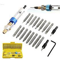 20pcs Swivel Head Drill Driver Bit Set Quick-Change HSS Countersink Drill Driver Bit Screwdriver Drilling Home Tool Set with Box
