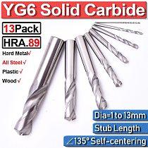 1-13mm Steel Drill Bit Set Drill Bit Guide Set Precision Ground Twist Drill Bit Stainless Metalworking Drilling Carbide Stub D40