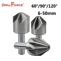 6-50mm HSS 6/8 Flute 60/90/120 Degree Chamfer Countersink Drill Bits(6/8/10/12.5/14/16/18/20/22/25/30/32/35/40/45/50mm)