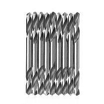 YOFE 10Pcs 3mm 3.2mm 3.5mm 4mm 4.2mm 4.5mm 5.0mm 5.2mm HSS Double Ended Spiral Torsion Drill Tools Drills Set