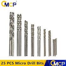25 PCS 0.5mm-3mm HSS Twist Drill Bit Set Crafts Jewelry DIY Woodworking Mini Drill Bits Micro Drill Bits