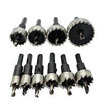 10Pc Hole Saw Tooth Kit Hss Steel Holesaw Drill Bit Set Cutter Tool For Wood Metal Wood Alloy 12-40 Mm
