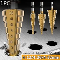 4-12/20/32mm HSS Step Drill Bit Set Golden Drilling Power Tools for Metal High Speed Steel Wood Hole Cutter Step Cone Drills