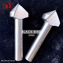 BB 90 Degree Countersink HSS Chamfering Metal Milling Tool 1 3 Flute Cutter Orifice Rose Cove Drill