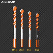 JUSTINLAU Electric Tools Diamond Drill Bit Hammer Concrete Ceramic Tile Metal Drill Bits Round Shank DIY Wall Hole Saw Drilling