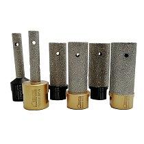 SHDIATOOL 1pc 5/8-11 or M14 Thread Vacuum Brazed Diamond Finger Bit Dia10/20/25mm Milling Bits Enlarge Tile Stone Countertop