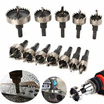 12pcs/lot 15-50mm HSS Drill Bit Set Holesaw Hole Saw Cutter Drilling Kit Hand Tool for Wood Stainless Steel Metal Alloy Cutting