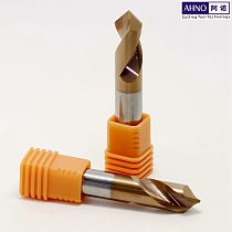 AHNO 2 Flutes Tungsten Carbide Spotting Drill bit 90 degree Machine Factory outlets