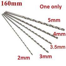 2-5mm New Diameter Extra Long HSS Straigth Shank Auger Twist Drill Bit Set 160mm