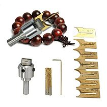 10PCS Pattern Wooden Bead Maker Beads Drill Bit Mini Milling Cutter Set Kit Tool For DIY