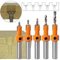5pcs/set Countersink Drills Bits Woodworking Countersunk Drill Cone Drill Counterbore Drill Bit Hole Drilling Opening Tools