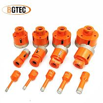 BGTEC 1pc Vacuum brazed Dry Diamond Drilling Bits M14 thread porcelain tile Drill Core Bit marble, masonry Hole Saw Cutter