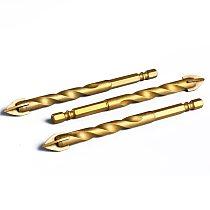 1Pc Hex Shank Titanium Tungsten Drill Bit Carbide Tile Glass Cross Spear Head Drilling Cutter Tool 6mm 8mm 10mm 12mm