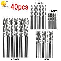 40pcs Drill Bits HSS High Speed Steel Drill Bits Set Tool 0.5mm 1mm 1.5mm 2mm HSS Power Tools