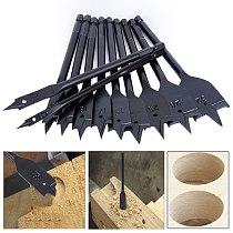 11Pcs 6-32mm Flat Drill Long High-carbon Steel Wood Flat Drill Set Woodworking Spade Drill Bits Durable Woodworking Tool Sets