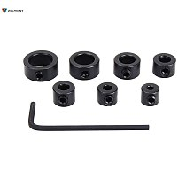 8pcs/set 3-12mm Drill Bit Tools Depth Stop Collar Ring Positioner Spacing Ring Locator Woodworking Tools With Hex Wrench Guide