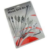 High quality 10pcs three point woodworking drill round hexagonal handle  opener set flat  bit plank punch
