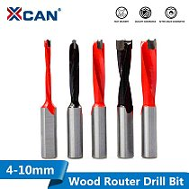 XCAN 1pc 4-10mm Left/Right Rotation Wood Forstner Drill Bits Router Bit Row Drilling 2 Flute Wood Hole Cutter Router Drill Bit