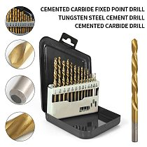 13pcs Left Handed Drill Bit Set M2 HSS with Titanium Coating Tools for Electric Digital Drill Bits Accessories