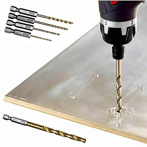 Drill Bit Set 6.35mm 1/4 Inch Hex Shank Twist Bits Multifunction Tools Electric Screwdriver Drill Wind Bit wood drilling 13pcs