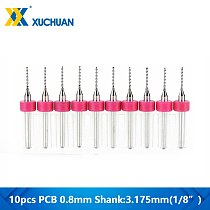 10pcs 0.8mm PCB Drill Bit CNC Machine Drill Bit For Drilling PCB Printed Circuit Board Carbide Micro Drill Bit