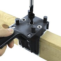 Handheld Woodworking Dowel Jig Guide For 6 8 10mm Drill Bits Wood Drilling Straight Hole Doweling With Metal Sleeve