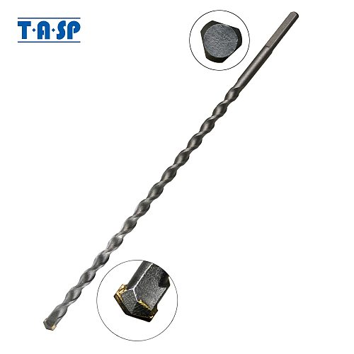 TASP 12mm Long Masonry Drill Bit Tungsten Carbide Tipped Concrete Drilling Bits Power Tool Accessories