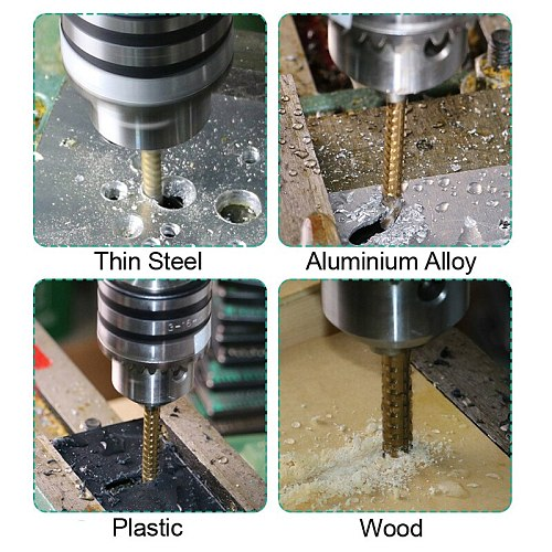 10pc 3-8mm Titanium Coated HSS Hole Saw Drill Bit Electric Drill Metal Wood Hole Grooving Drill Saw Carpenter Woodworking Tool