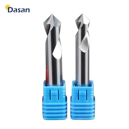 1PC 90 Degree Spot Drill Bit HRC55 3MM 4MM 5MM 6MM 8MM 10MM Machine Hole Drill Chamfering Tools Tungsten Carbide Steel for Alumi