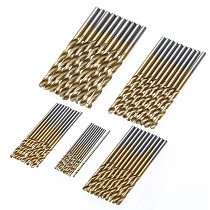 50pcs/set 1/1.5/2/2.5/3mm High Speed Steel HSS  Extractor Drill Bit Titanium Coated Drill Woodworking Wood Tool For Metal