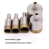 10mm shank Diamond sintered Coated hole Drill Bit  for stone ceramics glass drilling