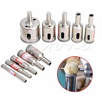 OOTDTY OOTDTY 10 pcs Diamond tool drill bit hole saw set for glass ceramic marble 6mm-32mm