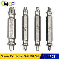 4pcs Speed Out Damaged Screw Extractor Drill Bit Set 1# 2# 3# 4# Double Side Broken Bolt Extractor Screw Remover Tools