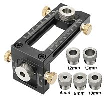 Woodworking 2 in 1 Drill Puncher Locator Cross Oblique Flat Head Puncher  Screw Jig Bed Cabinet ScrewS Punch Locator