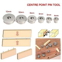6pcs Woodworking Dowel Centre Point Pin Set 4/5/6/8/10/12mm Dowel Tenon Center Set Transfer Plugs Wood Drill Power Accessories