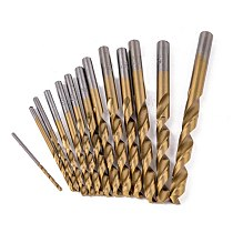 13pcs/set Mini Metal Drills Carbide Tip HSS Titanium Coated Twist Drill Bit Set for Woodworking Plastic Drill Bit Set 1.5-6.5mm