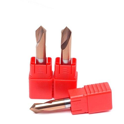 1PC HRC55 3MM 4MM 5MM 6MM 8MM 10MM 90 Degree Spot Drill Bit for Machining Hole Drill Chamfering Tools Tungsten Carbide Steel