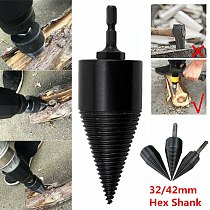 Screw Splitting Multifunction Carbon Steel Durable Cutting High Speed Hex Shank Firewood Drill Bit Wood Splitter Home Punch Tool
