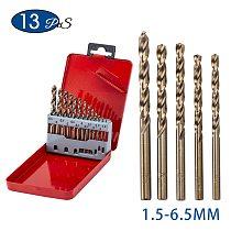 13pcs/set M35 cobalt twist drill bit set 1.5mm 3.2mm 3.5mm hss drill bit kit for stainless steel metal plastic wood drill bit