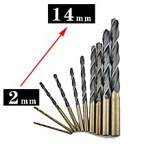 1pc 2-14mm Professional twist Drill  Bits HSS  Various Size for Drilling on Hardened Steel, Cast Iron & Stainless Steel
